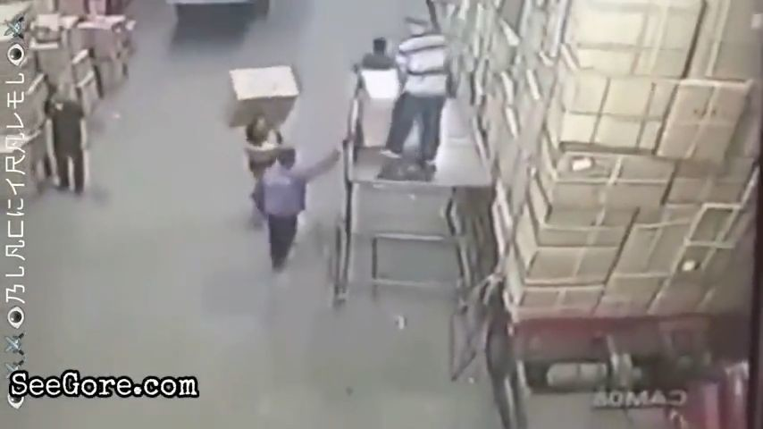 Worker falls head first 6
