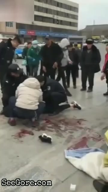 A China guy gets his neck slashed 9