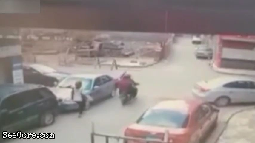 Bikers get hit by a car at junction 5