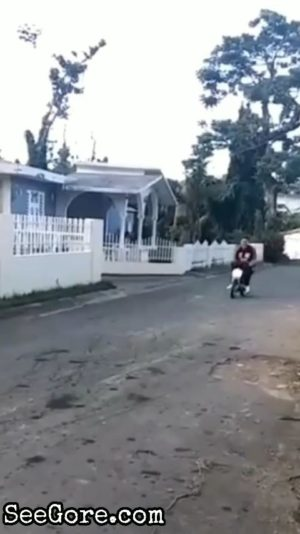 Stunt goes wrong: A guy flips over a bike