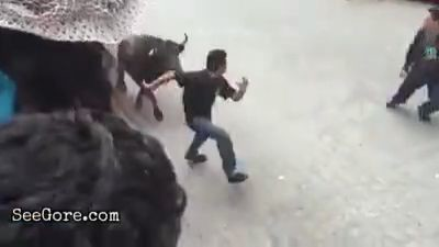 Man gored by an angry bull 2