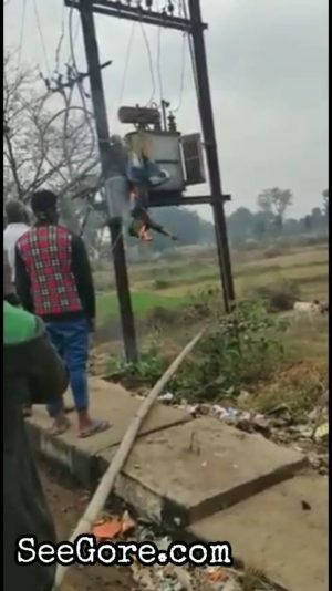 Man trying to steal oil from a transformer got toasted