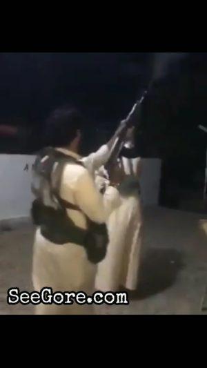 Gun shot against teammate at a terrorist camp