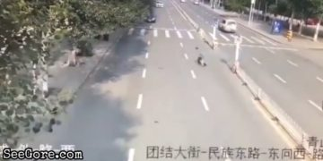 Man rushes while crossing the road ended up getting swept away 29