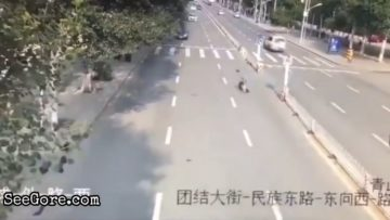 Man rushes while crossing the road ended up getting swept away 14