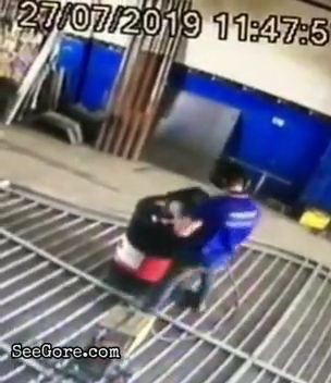 Metal barrel explodes in welder's face 1