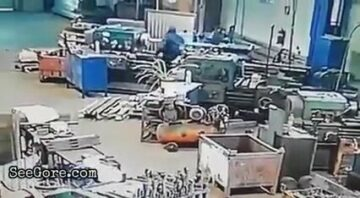 Factory worker pulled into a machine 5