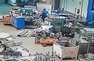 Factory worker pulled into a machine 6