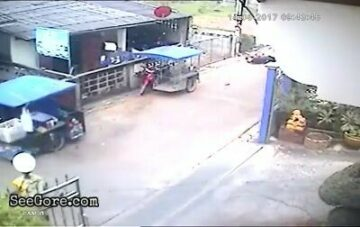Speeding bike rams into a little girl 10
