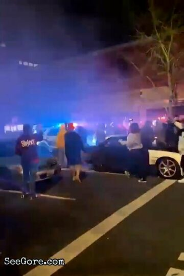 Tacoma police SUV plows through crowd 10