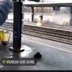 Man steps on burning stuff and burns himself 3