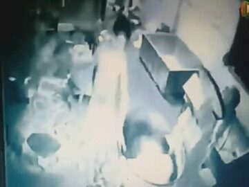 Man pulled into a kneading machine 7