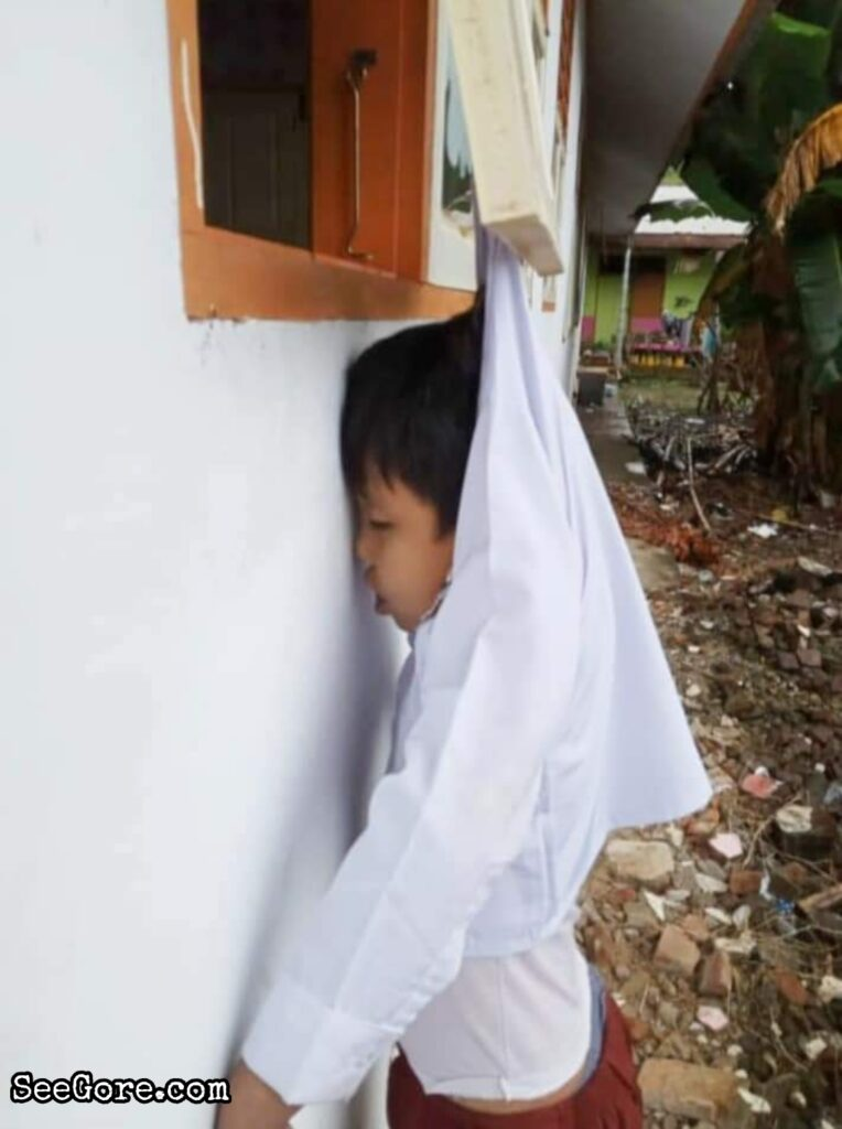 Little boy died hanging to a window 4