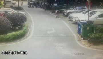 SUV runs over a woman 7