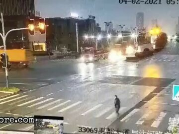 Bad timing to cross the road 6