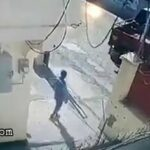 Small truck driver reverses into colleague 3