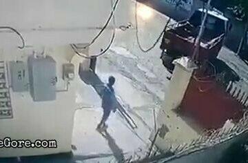 Small truck driver reverses into colleague 6