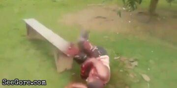 Hand chopping 17