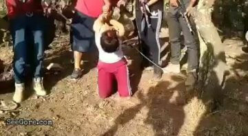 Woman slowly being dismembered by cartel 3