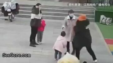 Asian moms kicking each other's daughter 14
