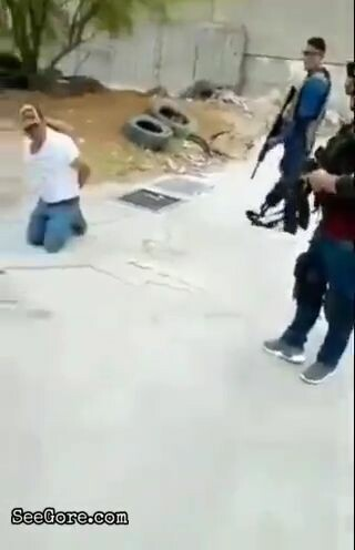 Dude's body mangles due to repeatedly shot 1